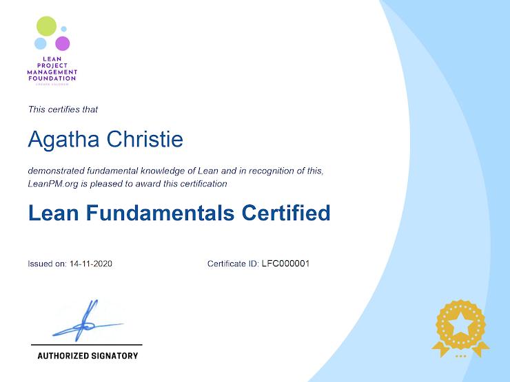 Lean Fundamentals Certificate
